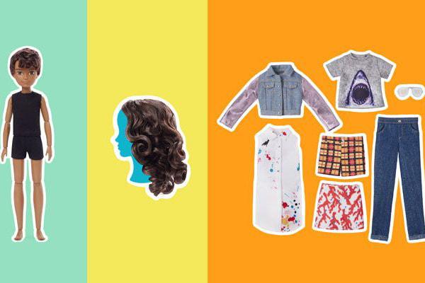 В каждый набор входит кукла без половых признаков, парик и набор аксессуаров