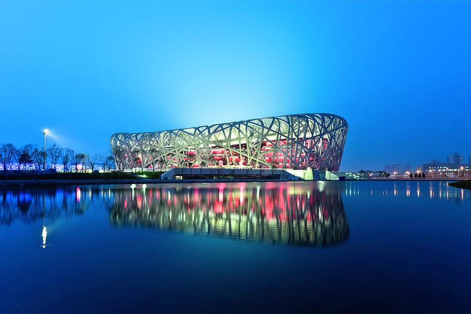 Олимпийский стадион «Гнездо» в Пекине