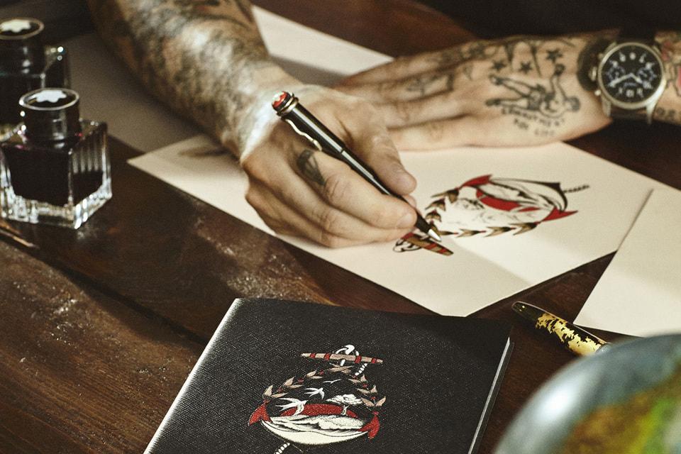 Другая коллаборация Montblanc создана в сотрудничестве с онлайн-платформой Yoox и тату-мастером Стефано Боетти