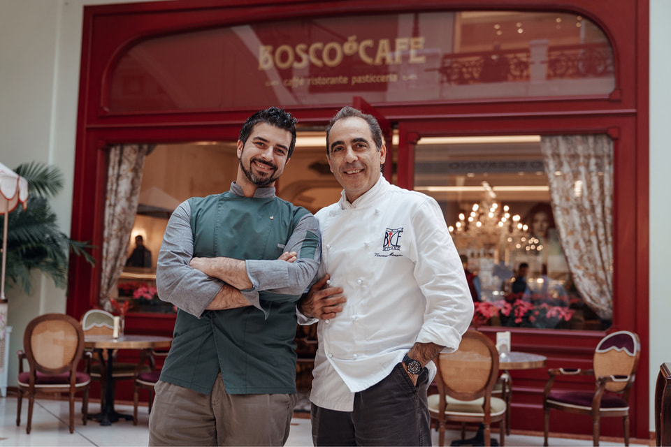 Специально для Bosco Café Винченцо Маццоне (справа) и шеф Bosco Café Давиде Корсо разработали меню