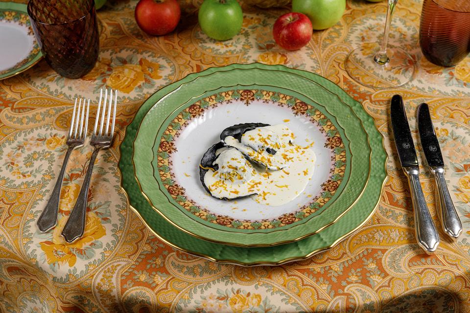 Рувиоли Неро – одно из блюд специального меню, разработанного для Bosco Café в рамках недель кухни Ломбардии