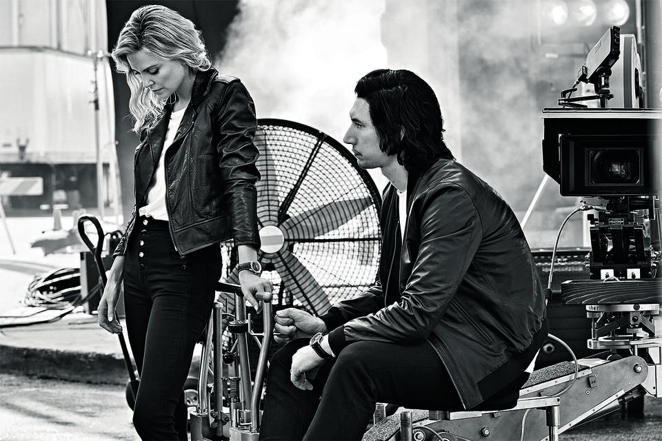 Актеры Шарлиз Терон и Адам Драйвер в рекламной кампании Breitling