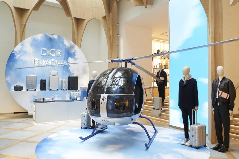 В честь запуска коллекции Dior x Rimowa в бутике на Елисейских полях до 13 ноября работает выставка на тему путешествий