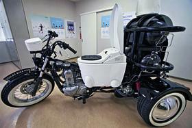 Мотоцикл-унитаз, созданный фирмой Toto, ездит на фекалиях