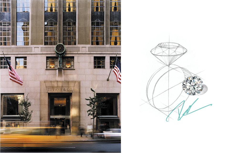 Штаб-квартира Tiffany & Co. и исторический магазин  в Нью-Йорке занимают все здание на углу 5-ой Авеню и 57-ой улицы с 1940 года