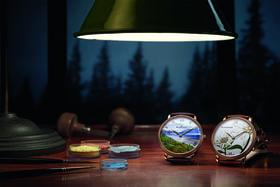 Циферблаты часов из коллекции Blancpain Metiers d'Art исполнены в сложных декоративных и художественных техниках