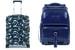 Поликарбонатный чемодан Piquadro PiQ3 с амортизацией колес (слева) и «умный» кожаный рюкзак Piquadro Blue Square, оснащенный технологией Bagmoti (справа)