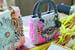 Художница Рина Банержи расшила сумку Dior в стиле индийского примитивного искусства
