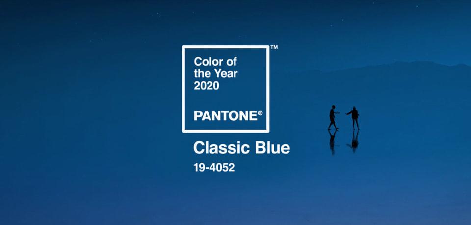 Цветом 2020 года Американский Институт цвета Pantone выбрал «классический синий»