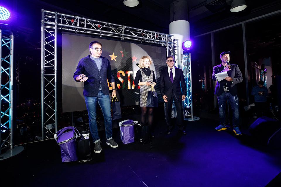 Арсен Балаян, Breitling, на сцене с с лучшими триатлетами 2019 года