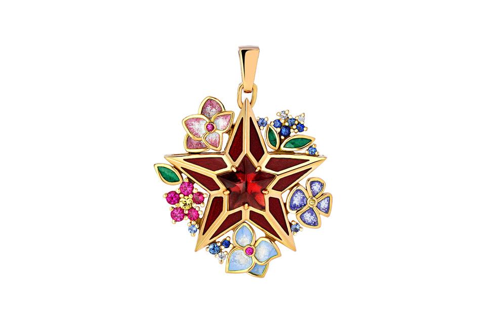 Дизайн подвески вдохновлен образом рубиновой звезды Спасской башни Кремля