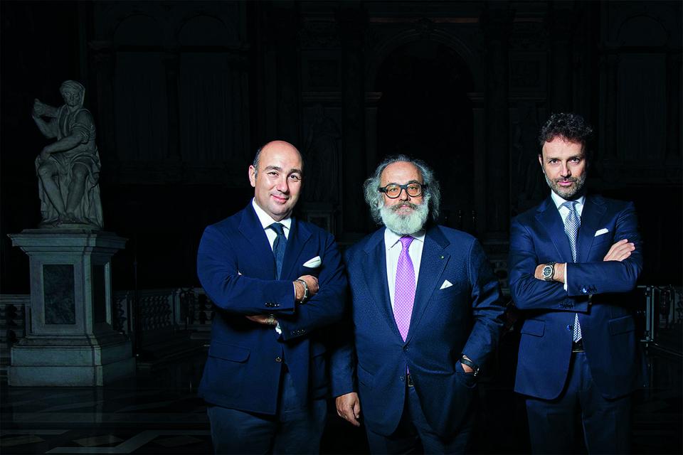 Стефано Риччи с сыновьями Филиппо и Никколо