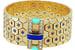 В Van Cleef & Arpels создали новые вариации знакового браслета Ludo, впервые он появился в 1934 году и получил название по прозвищу Луи Арпельса, одного из основателей Дома. Напоминающий драгоценный пояс гибкий браслет сплетен из шестиугольников золота разных оттенков, и каждый элемент украшен узором в виде звезд – рубинами, сапфирами или бриллиантами в закрепке «каре». Застежка декорирована драгоценными и поделочными камнями – кораллами, бирюзой, ляпис-лазурью, ониксом в сочетании с бриллиантами