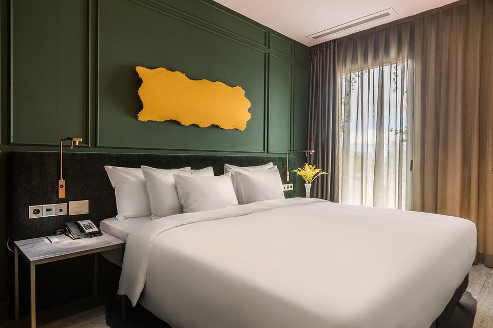 Спальное пространство в одном из номеров