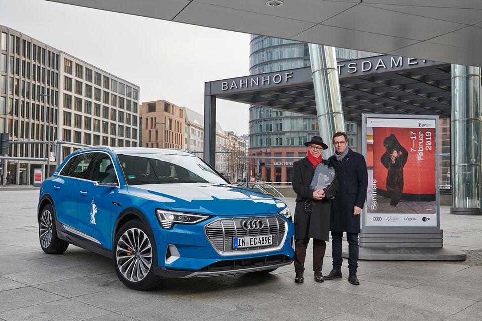 Audi e-tron готов к работе на Берлинале