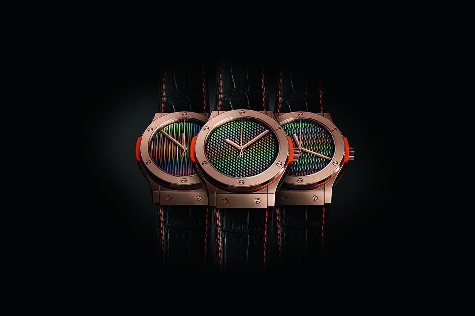 Первые вариации часов Classic Fusion Cruz-Diez с характерными оптическими узорами на циферблате появились еще в 2015 году
