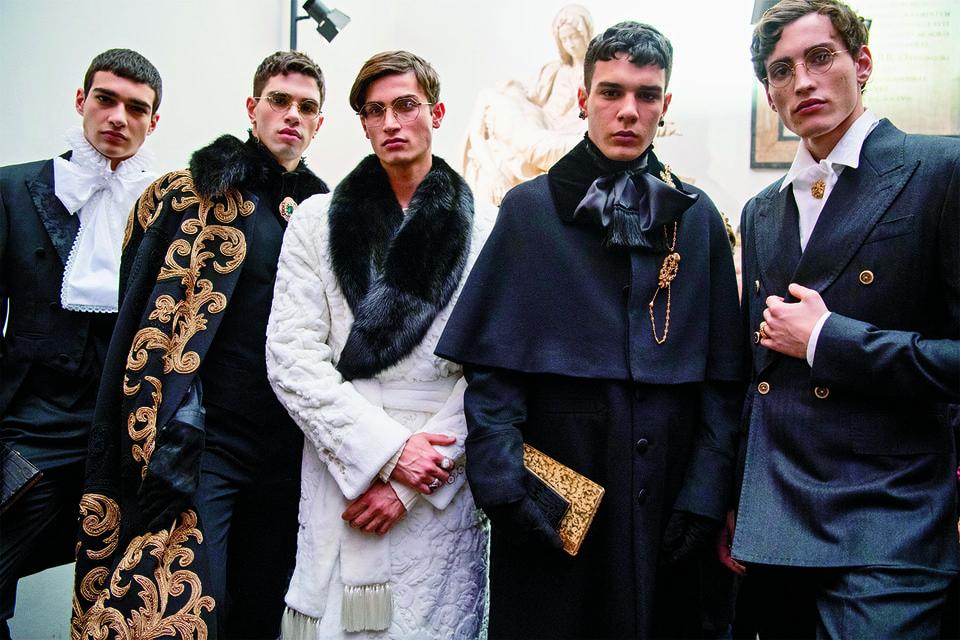 Образы из мужской коллекции Alta Sartoria, Dolce & Gabbana, осень-зима 2020/21