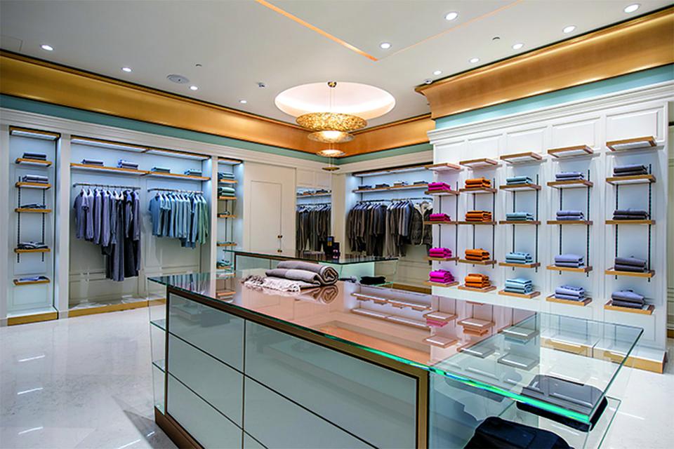 Интерьер нового бутика Malo, открывшегося в «Петровском пассаже» при участии Bosco di Ciliegi