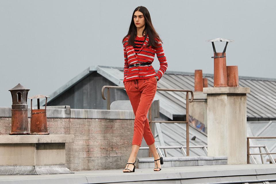 Образ в красных тонах, Chanel, весна-лето 2020