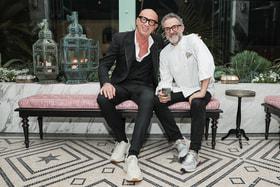 <strong>Гендиректор Gucci Марко Биццари и шеф-повар Массимо Боттура</strong>