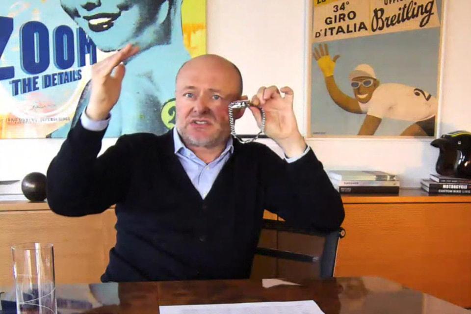 Видео-конференции для представителей прессы Жорж Керн проводил из штаб-квартиры бренда в Цюрихе и живо демонстрировал новую модель Chronomaster прямо со своего запястья