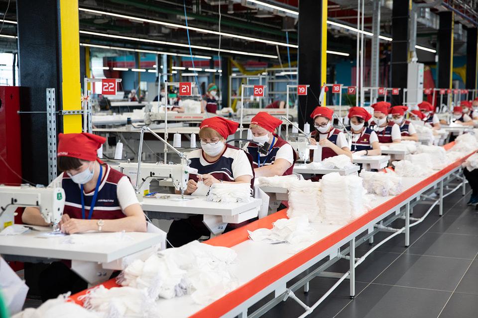 Производство марлевых масок на заводе в Калуге  ведет группа Bosco Михаила Куснировича