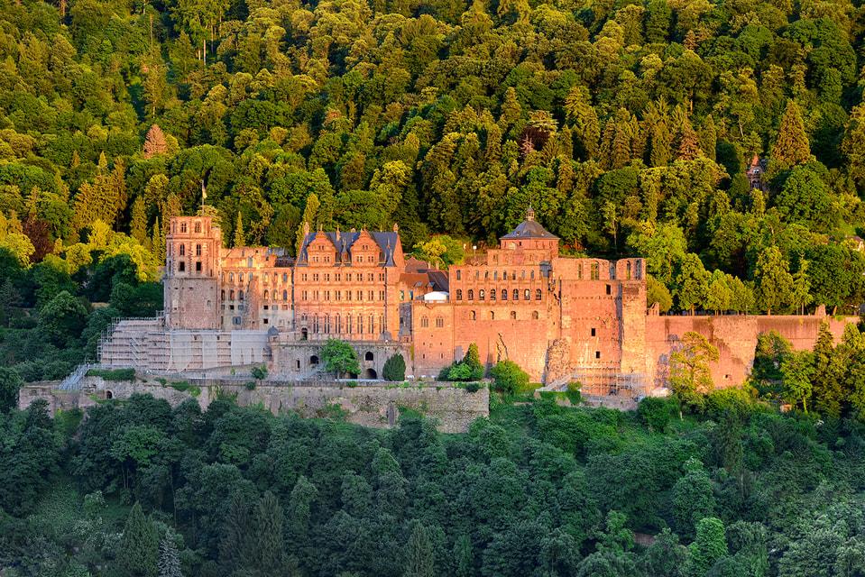Гейдельбергский замок когда-то был главной резиденцией курфюрстов Пфальца