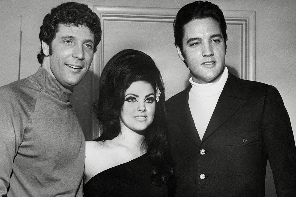 Дружба двух кумиров – Джонса и Пресли — продлилась до самой смерти Элвиса. В центре – Присцилла, жена Элвиса