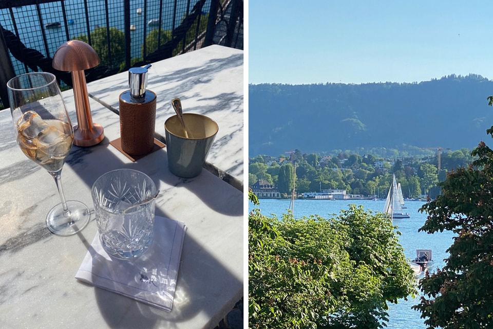 На террасе отеля La Reserve Eden au Lac в Цюрихе