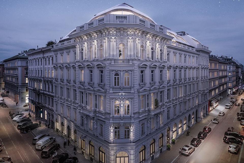 Историческое здание Grunderzeit в центре Вены перестроено под комплекс апартаментов класса люкс