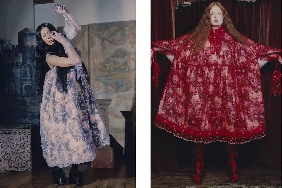 Образы с цветочными узорами из новой коллекции 4 Moncler Simone Rocha