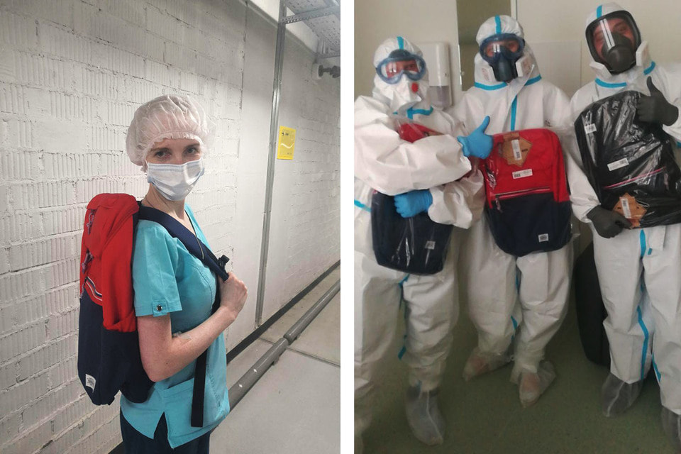 Медработники получили 300 рюкзаков American Tourister