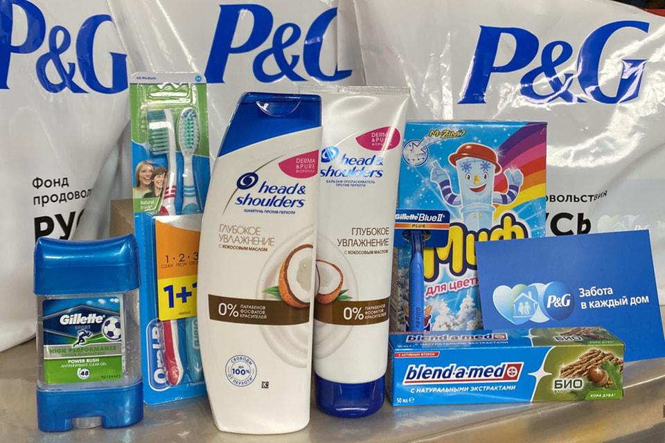 В каждом наборе Procter & Gamble – шампунь, зубная  щетка и паста, средства для ручной стирки, бритвенные принадлежности и многое  другое