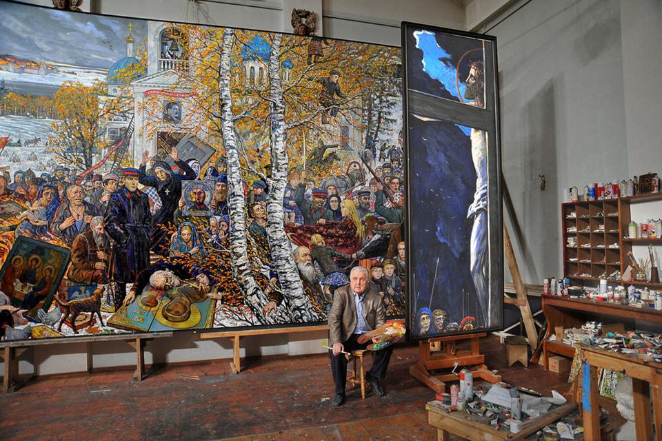 Одна из экспозиций галереи Ильи Глазунова посвящена его 88-летию