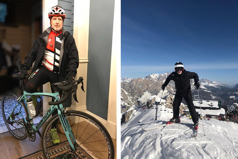 Часто на смену лыжам приходит велосипед, еще одно увлечение Леонида