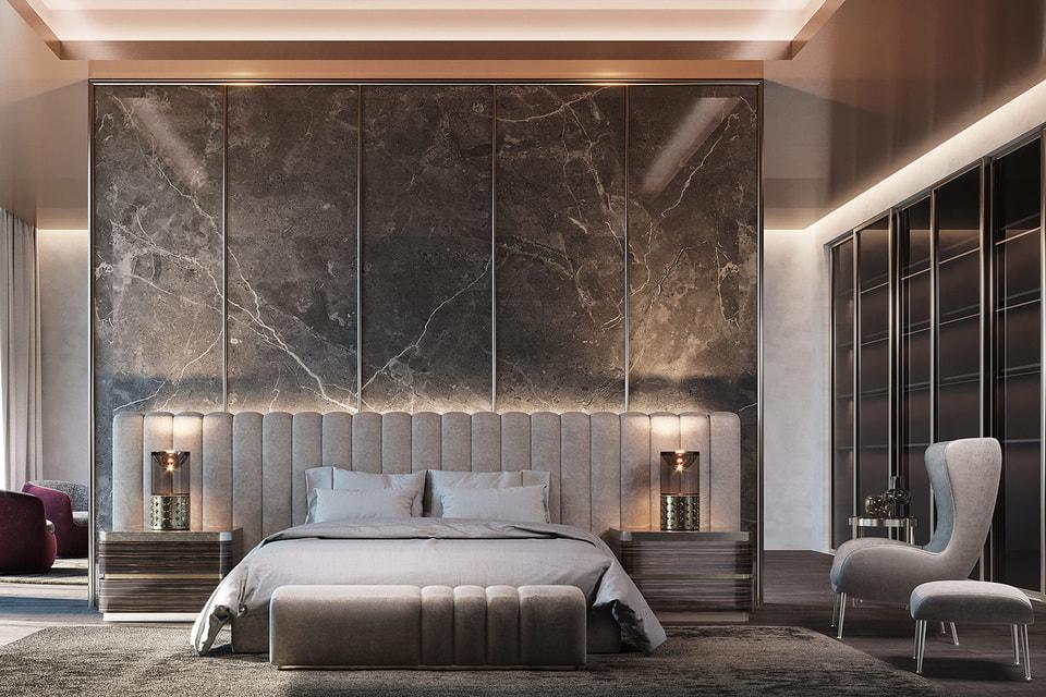 Концепция оформления спальни от Elie Saab