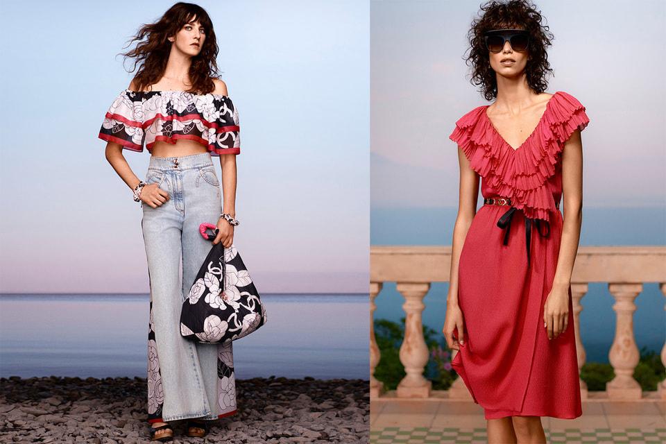 Легковесные универсальные женственные наряды на все случаи жизни курортного отдыха – так упрощенно можно сформулировать концепцию коллекции Chanel Cruise 2020/2021