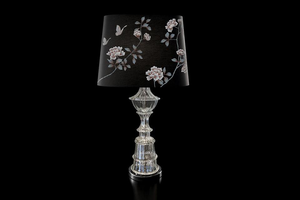 Абажур лампы Barovier & Toso вручную расписан художниками Misha Wallcoverings