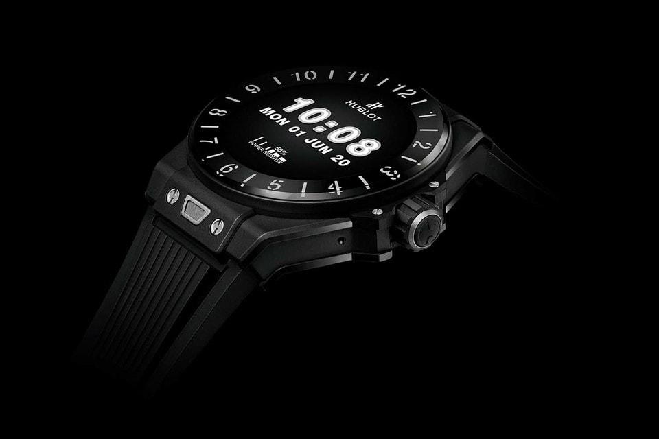 «Умные» часы Hublot в 42 мм корпусе из черной керамики или титана оснащены операционной системой Wear OS by Google Big Bang e