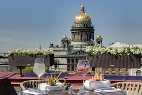 Открытая площадка с панорамным видом L Terrasa, Lotte Hotel St. Petersburg