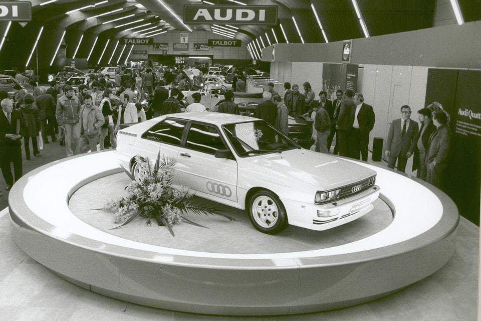Премьера первого серийного легкового автомобиля Audi Ur-quattro с полным приводом на Женевском автосалоне, 1980 год