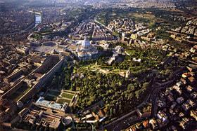 Город-государство Ватикан с высоты птичьего полета