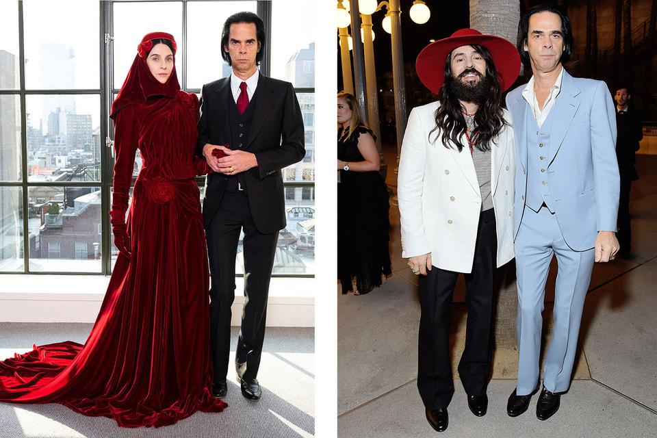 Ника Кейва и модный бренд Gucci связывает многолетняя дружба, а его креативный директор Алессандро Микеле создает для музыканта костюмы «на выход» и для выступлений