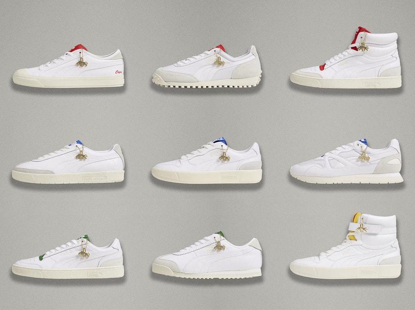 В новую капсульную коллекцию Puma вошли белые модели кроссовок, воссозданные по архивным документам