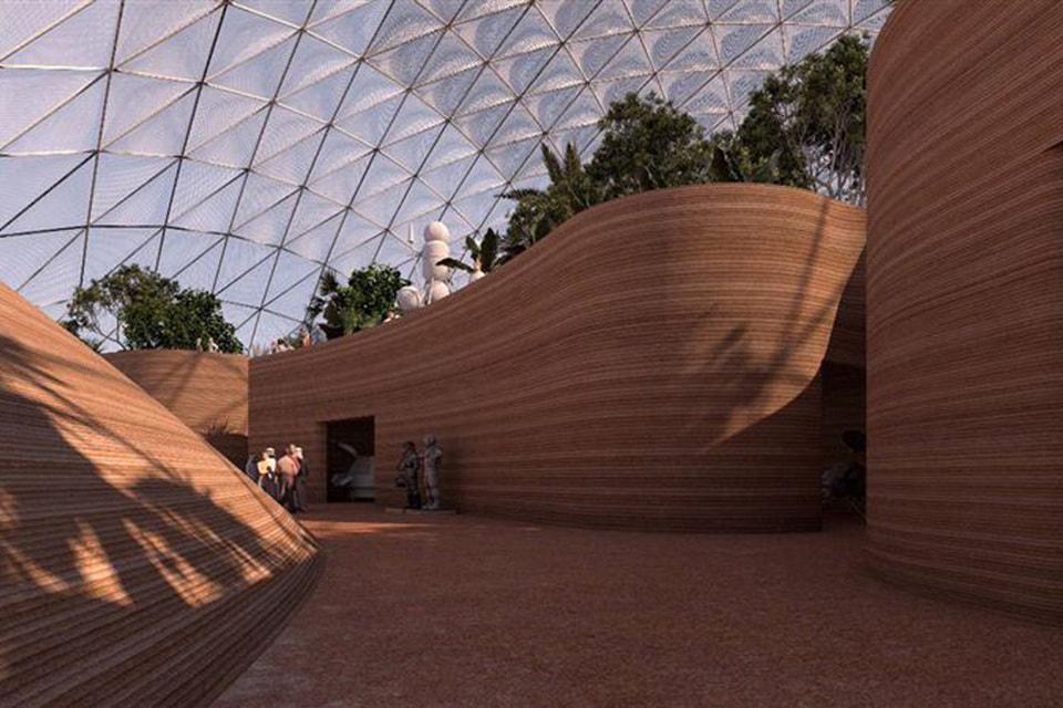 Архитекторы из Bjarke Ingels Group представили, как может выглядеть марсианский город – и его проектируют в пустыне за пределами Дубая