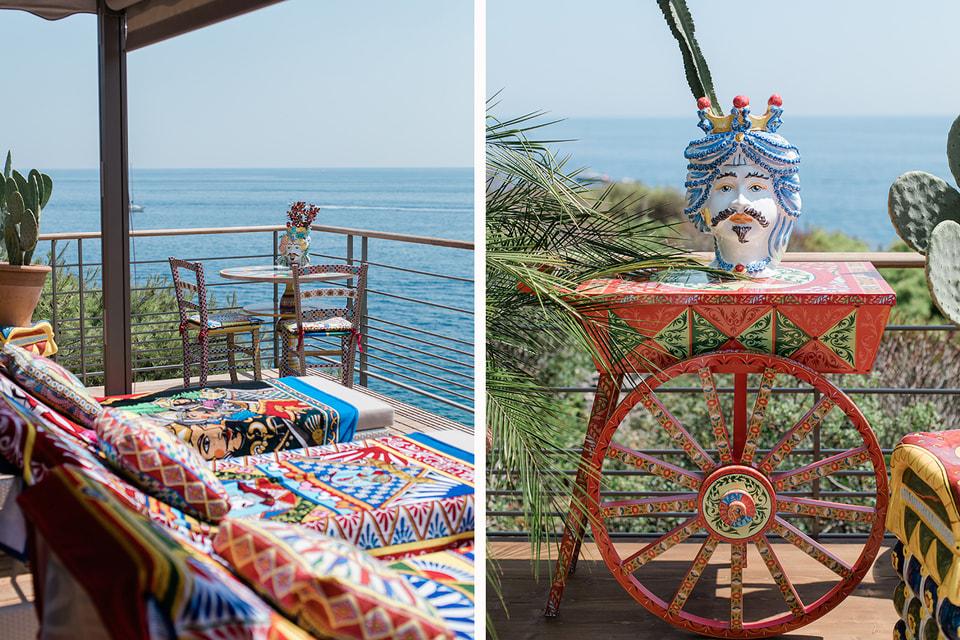 Пляж в сицилийском стиле от Dolce & Gabbana на Лазурном берегу Франции