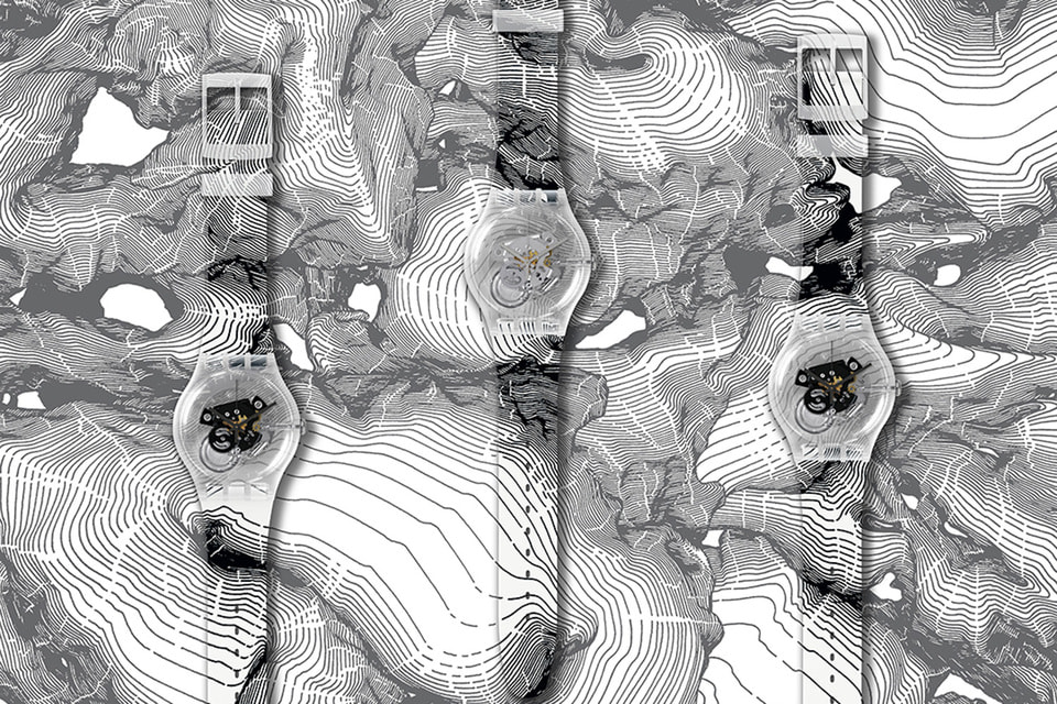 В рамках проекта Swatch X You можно стать обладателем часов с графическими принтами российского художника Андрея Бергера