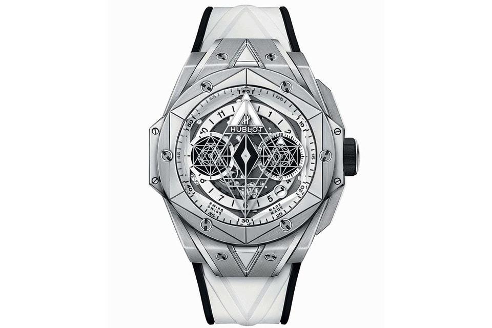 Белоснежное воплощение идеи «татуировки» на запястье – титан светло-серебрянного цвета, белый цвет элементов циферблата часов и белый ремешок