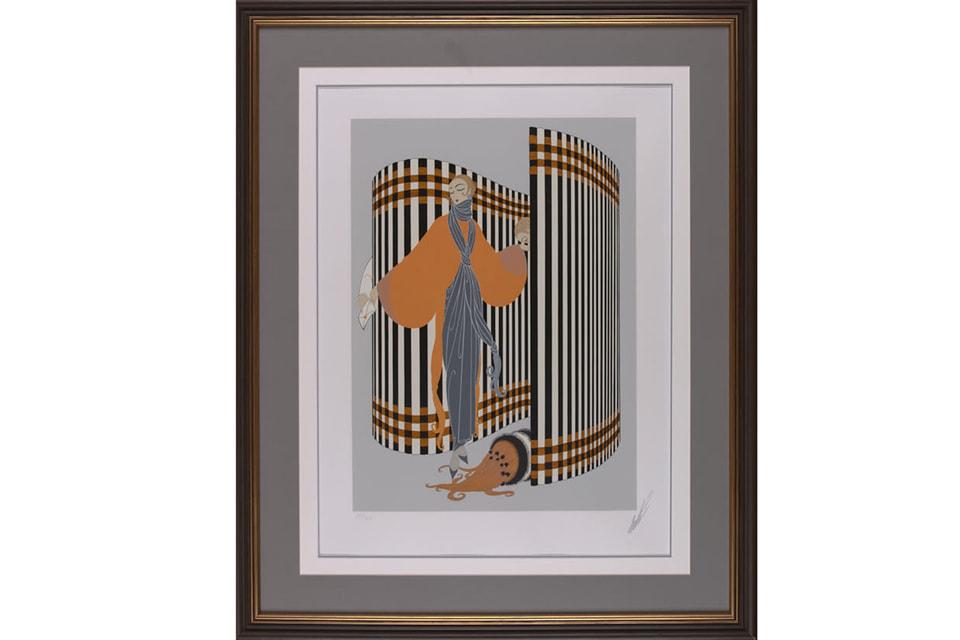 Работа Эрте, «Кокетка», 1981 год. Шелкография