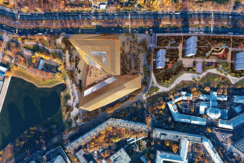 Архитектурная конструкция виртуозно вписана в ландшафт
